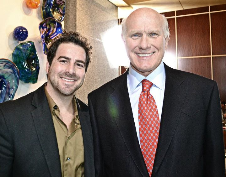 Evan Golden and Terry Bradshaw